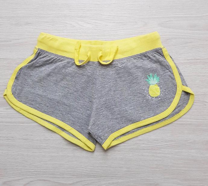 Y.F.K Girls Shorts (GRAY - YELLOW) ( 7 to 14 years)