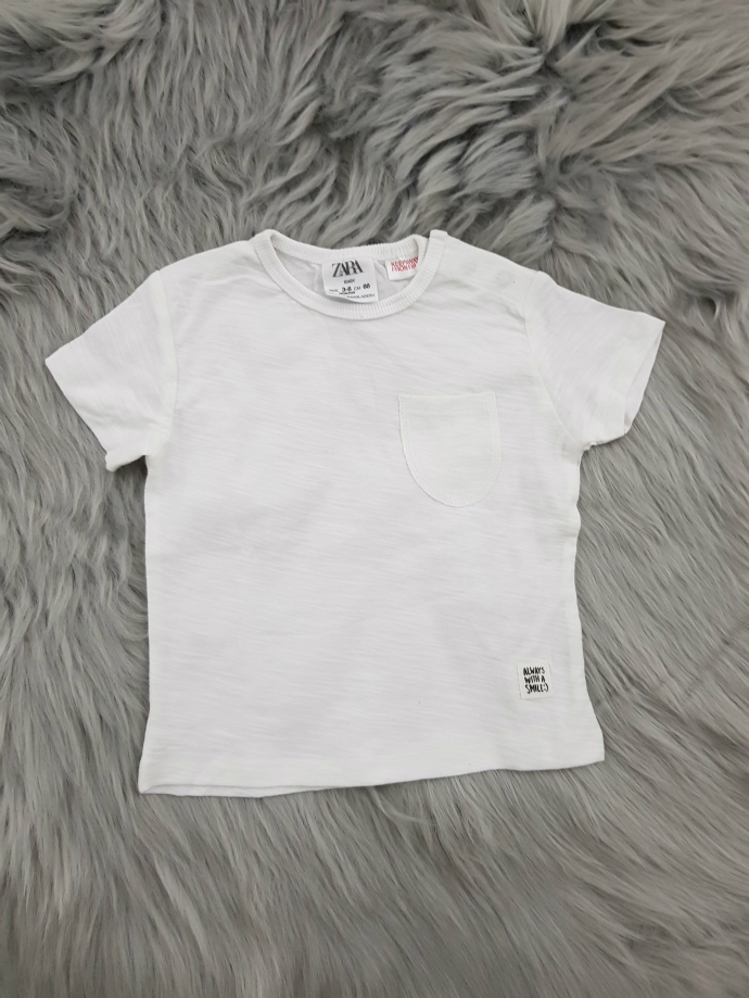 ZARA Boys T-shirt (WHITE) (3-6 Months To 3-4 Years)