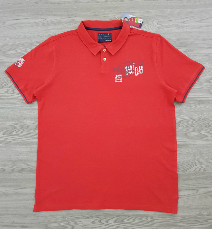STRAIGHT UP Mens Polo Shirt (RED) (L - XL - XXL)