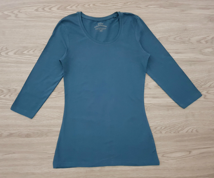 BASIC Ladies Blouse (GREEN - BLUE) (34 to 48 EURO)