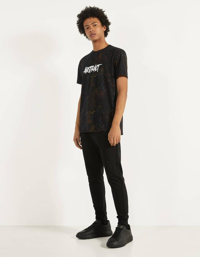 BERSHKA Mens Pants (BLACK) (XS - S - M - L - XL)