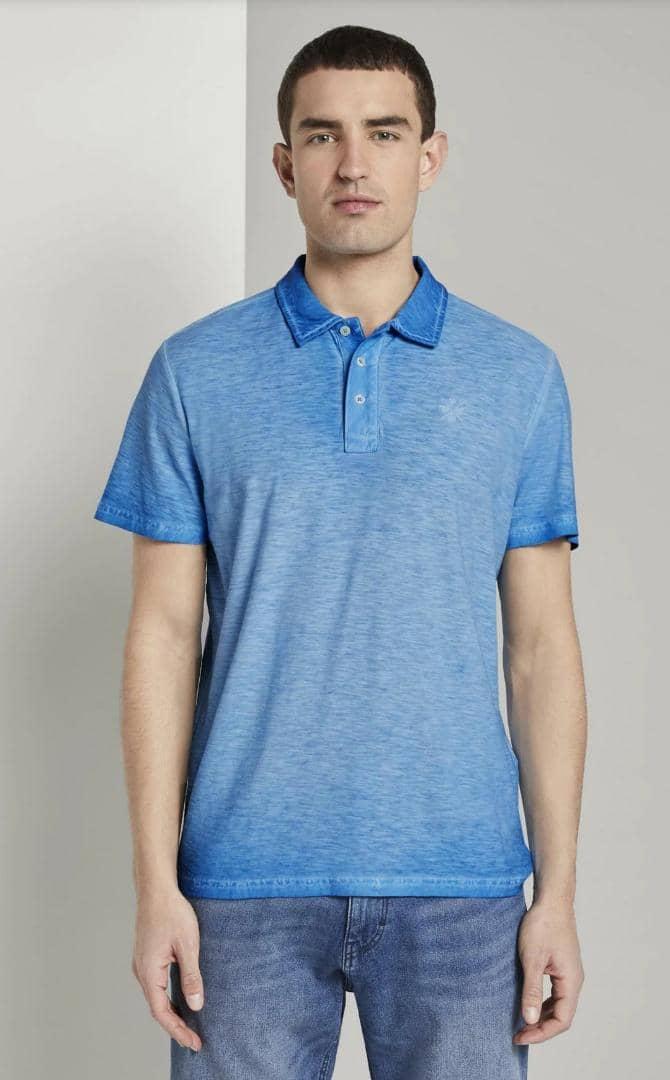 TOM TAILOR Mens Polo Shirt (BLUE) (XS - S - M - L - XL - XXL - 3XL)
