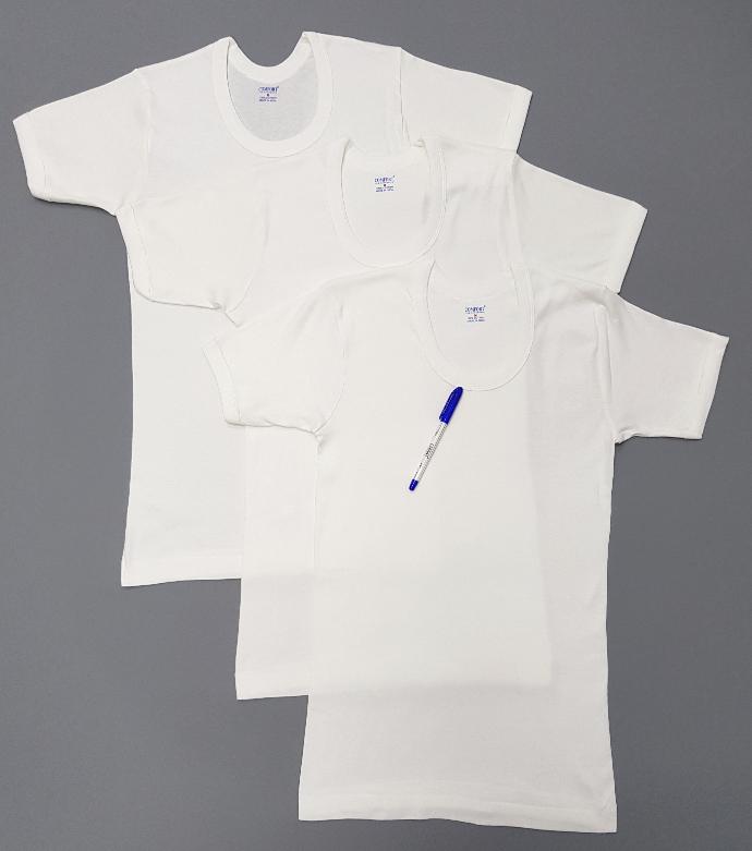 COMFORT AUTHENTIC Mens T-Shirt 3 Pce Set (WHITE) (M - L - XL - XXL)