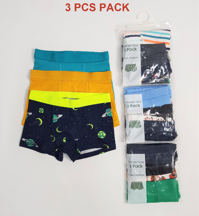 H AND M 3 Pcs Boys Boxer Shorts Pack ( Random Color) (4 to 10 Years)