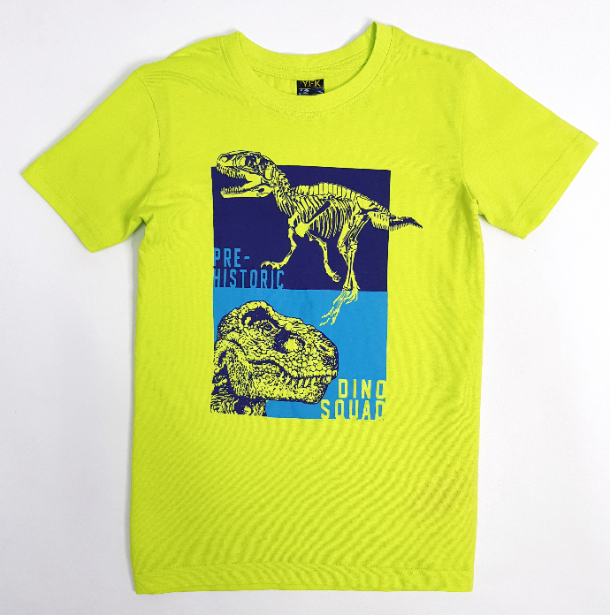 YFK Boys T-Shirt  ( GREEN ) ( 7 to 14 Years)