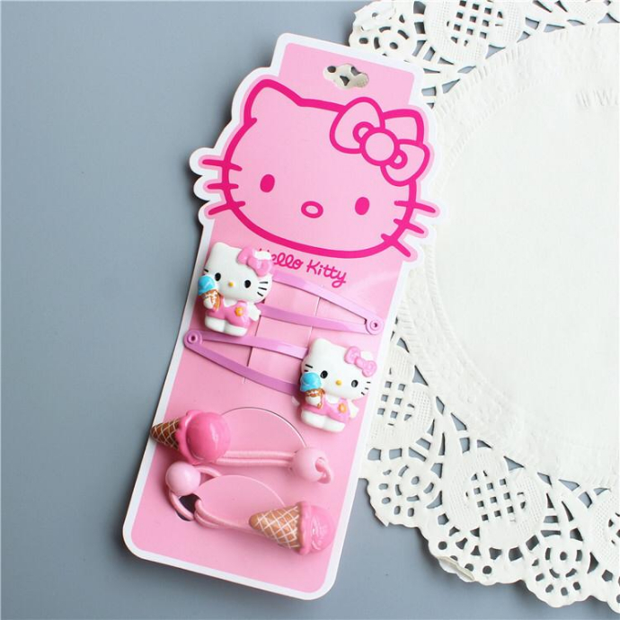 4 Pcs Pack Hair Accessories (PINK) (ONE SIZE)