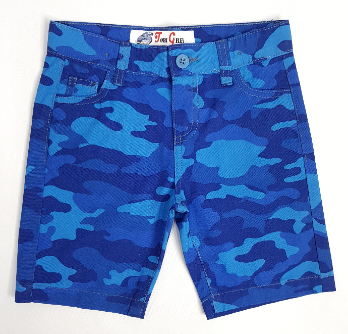 JOBI GREY Boys Shorty  (BLUE) (6 to 12 Years)