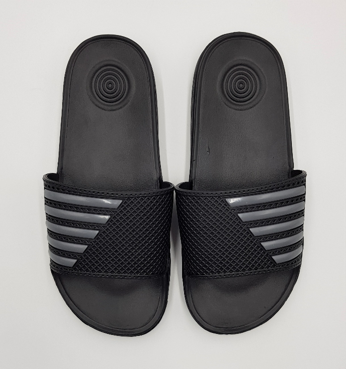 Mens Slippers (BLACK - GRAY) (40 to 45)