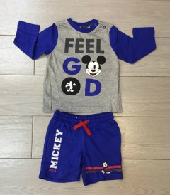 Boys Long Sleeved Shirt And Shorts Set (PM) (9 Months to 8 Years)