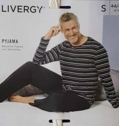 LIVERGY Mens Pyjama Set (NAVY- BLACK) (S - M - L - XL)