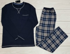 LIVERGY Mens Pyjama Set (NAVY) (XL)
