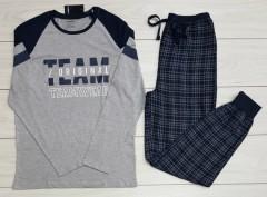 LIVERGY Mens Pyjama Set (NAVY) (XXL)
