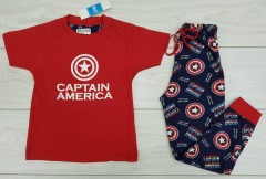 Boys Pyjama Set (RED - NAVY) (4 to 14 Months)