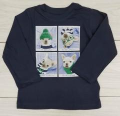 Boys Long Sleeved Shirt (NAVY) (FM) (18 Months)
