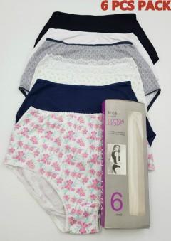 MNS 6 Pcs Ladies Panty Pack (Random Color) (8 to 18 EUR)