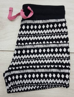 Girls Short (BLACK - WHITE) (5 to 14 Years)