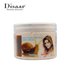 SNAIL DISSAR SNAIL FACIAL AND BODY SCRUB CREAM For all skin  Natural ingredients(300ml) (MA)