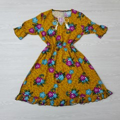 RED QUEEN Ladies Turkey Dress (MUSTARD) (S - M - L - XL)
