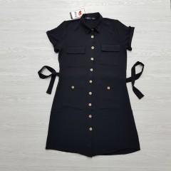 ROY FASHION Ladies Turkey Dress (BLACK) (S - M - XL)