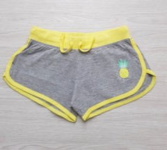 Y.F.K Girls Shorts (GRAY - YELLOW) ( 7 to 14 years)