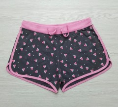 Y.F.K Girls Shorts (BLACK - PINK) (14 years)