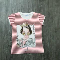 MAYORAL Girls T-Shirt (RED - WHITE) (2 to 7 Years)