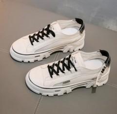 Ladies Sneakers ( WHITE - BLACK ) (36 to 40)