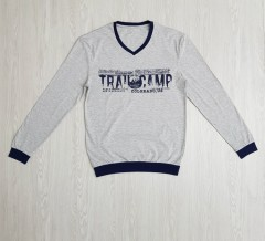 CANDA Mens Sleeved Shirt (GRAY) (M - L - XL)