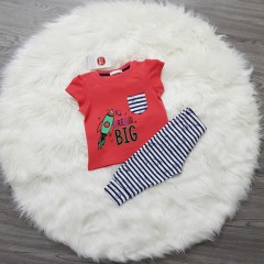 COOL CLUB Girls 2 Pcs Pyjama Set (RED - WHITE) (6 Month to 4 Years)