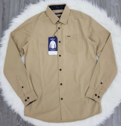SPRIT Mens Long Sleeved Shirt (BROWN) (S - M - L - XL)