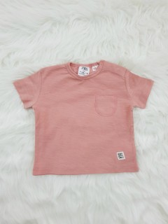 ZARA Boys T-shirt (Pink) (3-6 Months To 3-4 Years)