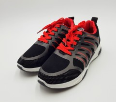 FASHION SPORT Mens Shoes (BLACK - RED) (40 to 45)