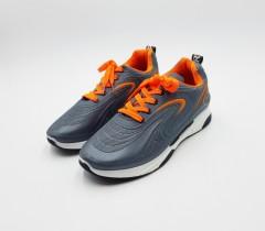 SK FASHION Mens Shoes (GRAY - ORANGE) (40 to 45)