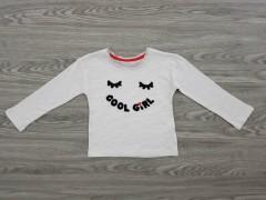 COOL GIRLS Girls T-Shirt (WHITE - GRAY) (1 to 10 Years)