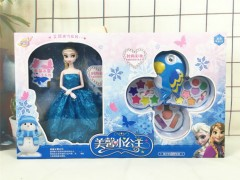 Barbie doll & Cosmetics Set Toys (BLUE) (54 × 5 × 32 CM)
