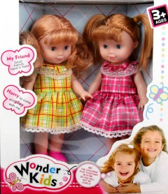 WONDER KIDS 2 Pcs Dolls Toys Pack (YELLOW - PINK) (27 × 31 CM)