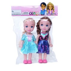 2 Pcs Dolls Toys Pack (LIGHT BLUE - NAVY) (210MM)