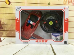RC Toys Racing Police Remote Control Car for Kids (RED) (33×7×24 CM)