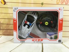 RC Toys Racing Police Remote Control Car for Kids (WHITE) (33×7×24 CM)