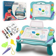 Magnetic Drawing Board Erasable Writing Sketch Board Kids  Toys (Blue)