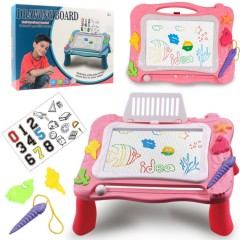 Magnetic Drawing Board Erasable Writing Sketch Board Kids  Toys (PINK) (38×25×21.5 CM)