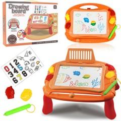 Magnetic Drawing Board Erasable Writing Sketch Board Kids  Toys (ORANGE)