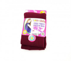 TOM AND DAISY Girls Tights (MAROON) (2 to 12 YEARS)