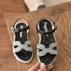 Girls Shoes (BLACK - SILVER) (32 to 36)