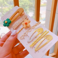 7 Pcs Hair Accessories Pack (YELLOW) (ONE SIZE)