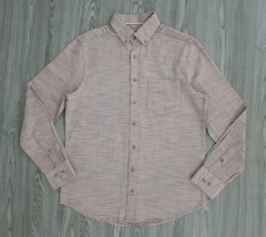 LC WAIKIKI Mens Sleeve Shirt (LIGHT BROWN) (S - M - L - XL)