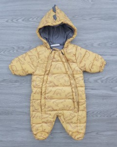 LILY - JACK Boys Ramper Jacket Hooded Jumpsuite (KHAKI) (NewBorn to 12 Months)