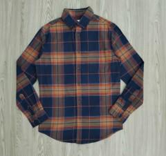 GOODIELLOW - CO Mens Sleeve Shirt (BLUE - ORANGE) (S - M - L - XL - XXL)