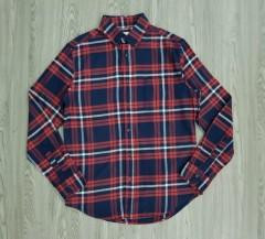 GOODIELLOW - CO Mens Sleeve Shirt (NAVY- ORANGE) (M - L - XL - XXL)