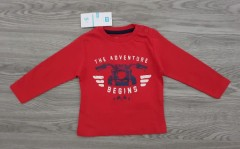 Boys Long Sleeved Shirt (RED) (6 to 36 Months)